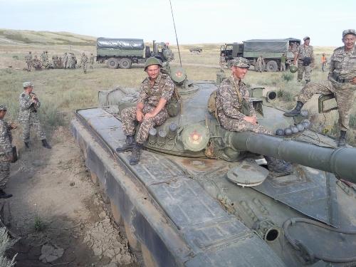 Фото- сессия на танке