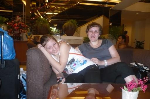 В лобби гостиницы - Bangkok Palace